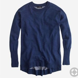 J Crew merino cotton tunic sweater xxs indigo